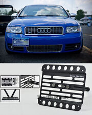 For 01-05 Audi A4 B6 Front Bumper Tow Hook License Plate Relocator Bracket