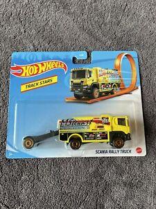 Hot Wheels Track Stars Scania Rally Truck Gebraucht