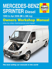 Mercedes Sprinter 2.2 2.9 Diesel 1995-06 M to 06 Reg Haynes Repair Manual 4902