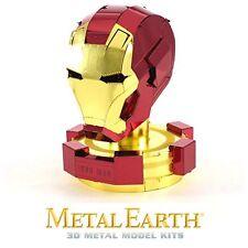 Fascinations Metal Earth Iron Man Helmet Colored Laser Cut 3D Model Kit