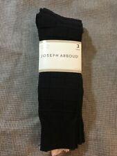 Joseph Abboud Men's Warehouse Socks - Size 10-13 - Black 3-Pack - NWT