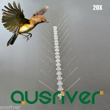 20X 50cm Stainless Steel Bird Spike Pest Pigeon Control Deterrent Anti Perching