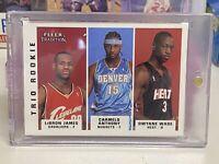 2003-04 Fleer Tradition Trio Rookie Lebron James/D Wade/Carmelo #300 RC 🔥 READ