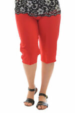 Straight Leg Solid Plus Size Pants for Women