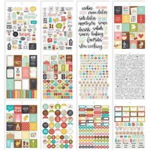 COOKING RECIPES Stickers PLANNER ESSENTIALS 706 stickers Carpe Diem 8911 New