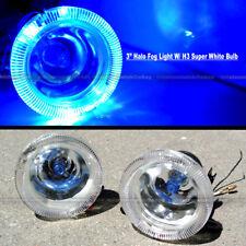 "For RX-8 3"" Round Super White Blue Halo Bumper Driving Fog Light Lamp Kit"