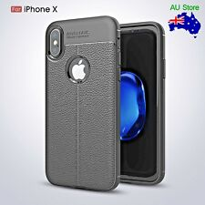 Soft TPU Silicone Leather Texture Cases Fr iPhone X 7 8 plus&Samsung 8 9 plus