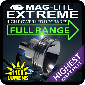 MAGLITE UPGRADE CONVERSION LED EXTREME HIGH POWER TORCH FLASHLIGHT MOST MODELS