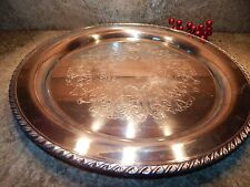 """Beautiful W.M. Rogers 16.75 """" Round Silver Plate Serving Tray"""