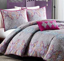 Bedding For Girls Full Size Comforter Sets For Teens Reversible Purple Paisley