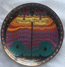 Vintage 1995 Franklin Mint Laurel Burch Porcelain Plate-Friendly Felines-W/ Coa