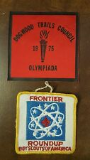 2 vintage  Boy Scout patches DOGWOOD TRAILS COUNCIL & FRONTIER ROUNDUP