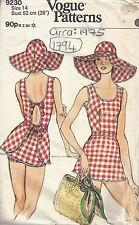 "1975 Vintage Vogue Nähen Muster Brustumfang B36 "" Badeanzug"