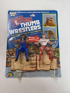 1985 LJN - WWF Wrestling Superstars Thumb Wrestlers Roddy/Hillbilly Jim -Vintage