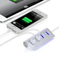 Hub USB 2.0 4 PUERTOS 3.0 divisor de distribuidor Cable adaptador