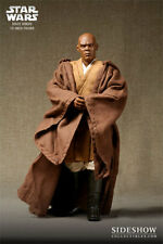 JEDI MASTER~MACE WINDU~SIXTH SCALE FIGURE~EXCLUSIVE~LE 1750~SIDESHOW~MIB