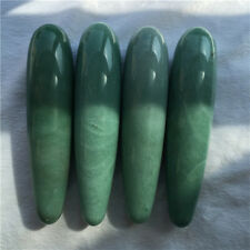 Natural  green aventurin crystal massage wand crystal dildo crystal penis /piece