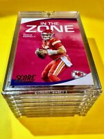 Patrick Mahomes HOT IN THE ZONE PANINI SCORE INSERT #IZ-PM CHIEFS 2020 - Mint!