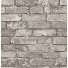 Fine Decor Distinctive Silver/Grey Rustic Brick Effect Wallpaper (FD31286)