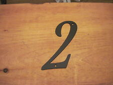 2-Black Wrought Iron Wall Art Metal Home Decor Primitive number