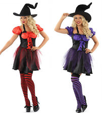 LADIES SEXY MISS FUNKY WITCH FANCY DRESS HALLOWEEN  OUTFIT COSTUME WOMENS