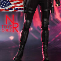 "1/6 Black Widow Women Combat Boots For 12"" PHICEN Female Figure Hot Toys ❶USA❶"