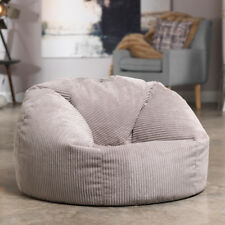 Luxury Cord Bean Bag X Large Adult Bean Bag Chair - Natural Stone / Beige