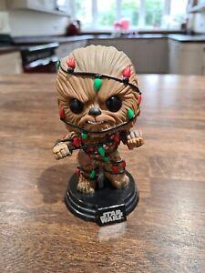 Funko Pop Star Wars Christmas CHEWBACCA WITH CHRISTMAS LIGHTS #278 No Box