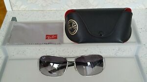 Ray Ban Men's Sunglasses RB 3320 042 Silver Chrome..Made in Italy..Excellent....