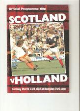 Football Friendly International Scotland Fixture Programmes