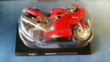 DUCATI SUPERSPORT 900   MEGA BIKES 1-18 SCALE MAISTO MOTORCYCLE MODEL ON STAND