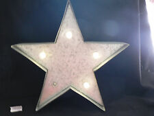12 x12 STAR  LIGHT UP STEEL STUDIO DECOR LED MARQUEE 2INCHES HIGH  BNWT