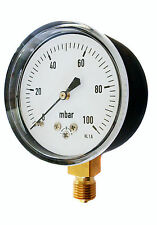 Capsule Gauge for Very Low Pressure Air or Gas 63mm 0/25 60 100 250 600 mBar
