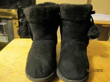GIRLS~BLACK SUEDE~BOOTS~SIZE 13~GREAT CONDITION