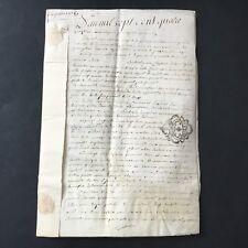 Manuscrit Parchemin 1781 Nantes Acte Notarié Contenu À Déterminer