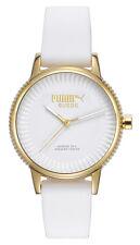 Puma 10425 Suede PU104252001 Damen Armbanduhr Silikon weiß neu