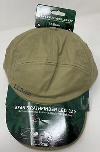 New L.L. Bean 5 Panel Pathfinder Headlamp LED Strapback Hat Dark Khaki NWT