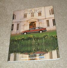 Ford Brochure 1985 Capri Laser 2.8I Sierra XR4X4 Escort XR3I Fiesta XR2 Granada