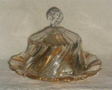 EAPG Covered Butter Dish Duncan & Sons Circa 1902 Two~Ply Swirl Elegant!