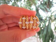 .42 Carat Diamond Authentic Fope Yellow Gold Earrings 18K sepvergara