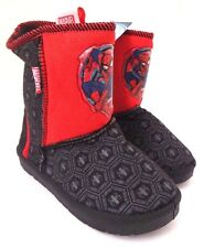 Marvel Comics Ultimate Spider-Man Boy's Youth Warm Winter Boots Size 12 NWT