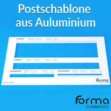 Postschablone Briefschablone Formatschablone Portoschablone Messschablone - ALU
