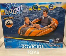 BEST WAY H20G0 INFLATABLE RAFT WITH OAR LOCKS 6 FOOT 5 INCHES BY 45 INCHES NEW