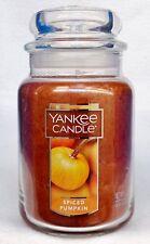 1 Yankee Candle SPICED PUMPKIN Large 1-Wick Jar Candle 22 oz