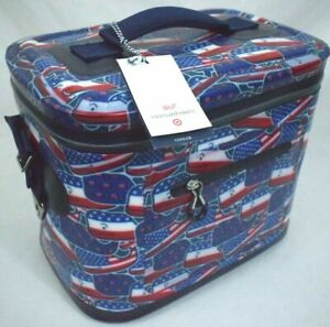 Vineyard Vines For Target Whale and USA Flag Red White & Blue 12 Can Cooler New