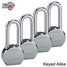 Master Lock Pro Series - (4) High Security Padlocks Keyed Alike 6230NKALH-4