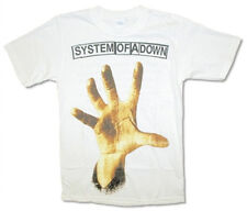 System Of A Down-Hand-2011 Tour-Large White T-shirt