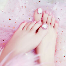 24pcs pro foot pink false nail tips fashion fake toes nails toe art acrylic*