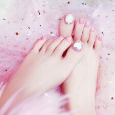 24pcs pro foot pink false nail tips fashion fake toes nails toe art acrylic Pip