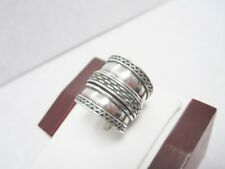 Sterling GeoArt Cynthia Gale Spinner Center Ring